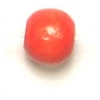 Wooden Bead Round 5mm Orange